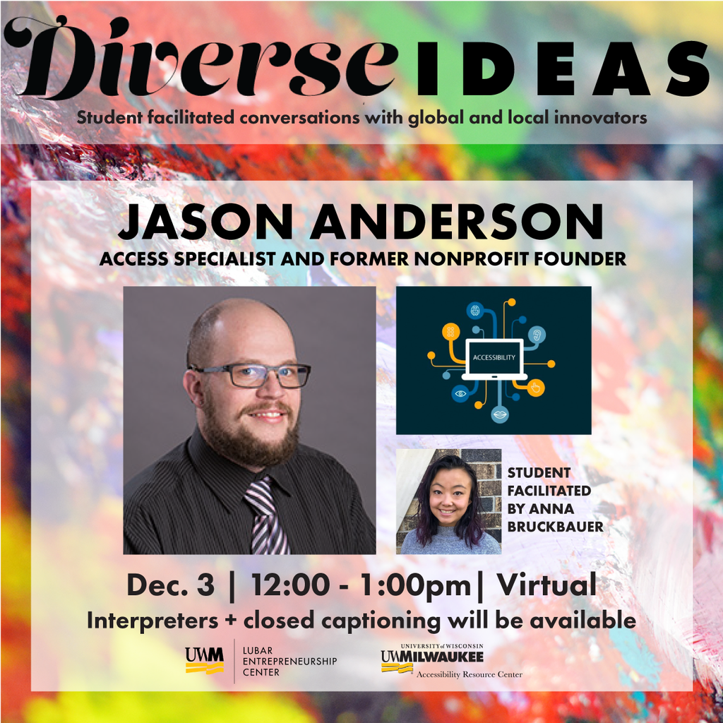 Flyer for Diverse Ideas presentation.