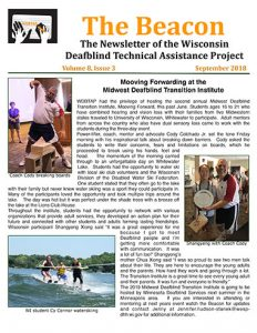 Cover of Beacon Newsletter for September 2018.