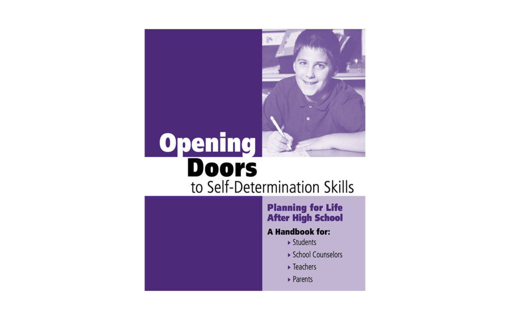Cover of Opening Doors to Self-Determination Skills, Planning for Life After High School document.