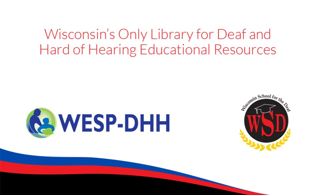 Cover of WESP-DHH library brochure in English.