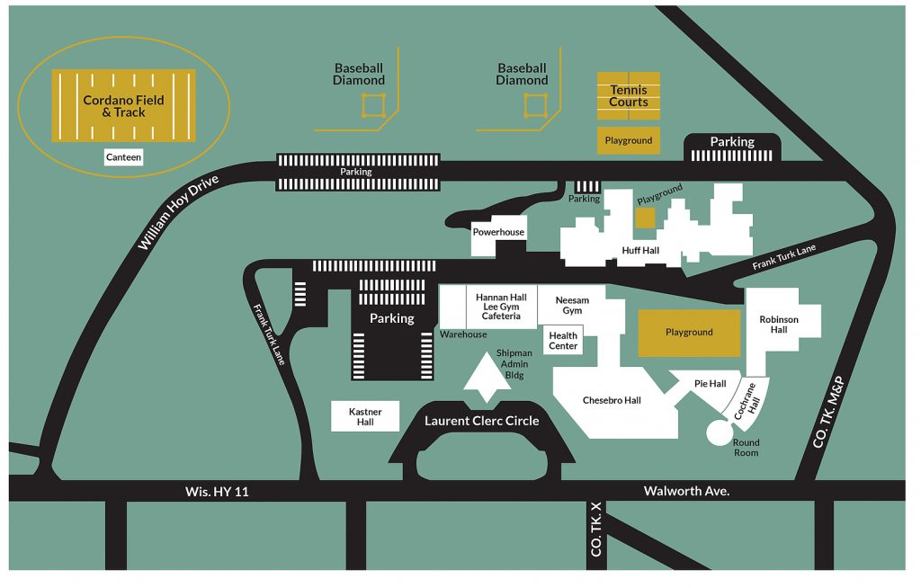 Illustration of the WESP-DHH campus map.