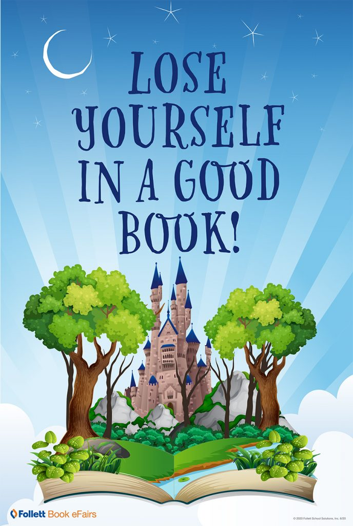 Lose Yourself in a Good Book! flyer.